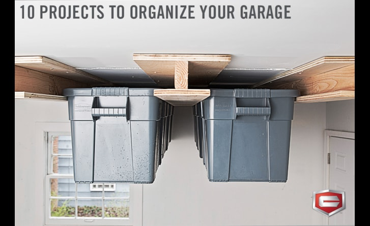A little organization can go a long way in the garage.