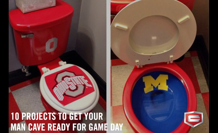 Get your man cave game day ready with these 10 projects.